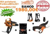 KIT POTATURA  A BATTERIA BAHCO COMPLETO BCL22 + BCL132